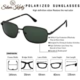 Silver Kartz Unisex Polarised Double Bar Classic Elite Aviator Black Sunglasses