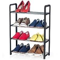 femor 10 St/ück Einstellbare Schuhregale Schuhstapler//Schuhhalter Set verkauft durch championeu Kunststoff-schwarz Lieferzeit: 1-2 Tage