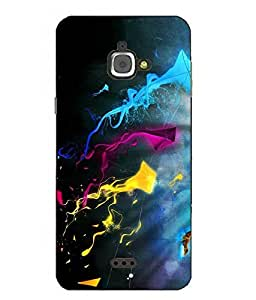 Case Cover Kite Printed Blue Hard Back Cover For InFocus M350