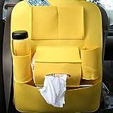 55 * 40cm Bright Plush Senior Style Non-Woven Large Car Multifunction Hanging Organizer Car Seat Back Capacity Storage