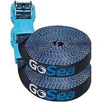 GoSea Tie Down Straps with Rubber Buckle Guard