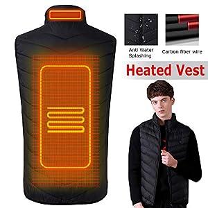 HOMYY Elektrische Beheizte Weste,Waschbare USB-Winter-beheizte warme Weste Heizung Mantel Jacke Kleidung Tops