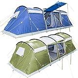 skandika Montana 8 Protect Familienzelt für 8 Personen   eingenähter Zeltboden   2 trennbare Schlafkabinen   5000mm Wassersäule   200 cm Stehhöhe