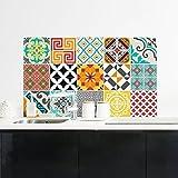 15adesivi adesivi piastrelle | Adesivo Piastrelle–Mosaico Piastrelle a Parete Bagno e Cucina | Piastrelle Adesivo–Azulejos Multicolore–10x 10cm–15pièces