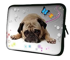 7aa0f973e035 LUXBURG 14 Luxury Design Laptop Notebook Sleeve Soft Case Bag Puppy  (14-Inch)(Puppy & Butterflies)