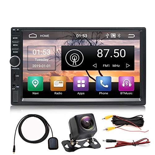 Panlelo S1NV Radio automática Am FM RDS Pantalla táctil 2 DIN Full HD Android 8.1 Navegación GPS Coche StereoQuad Core 1 GB RAM 16 GB ROM Bluetooth WiFi SWC Cámara de visión Trasera incluida