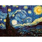 Reproduction d'art 'La nuit étoilée, vers 1889', de Vincent van Gogh, Taille: 61 x 46 cm