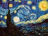 Kunstdruck 'Sternennacht, ca. 1889', von Vincent van Gogh, Größe: 61 x 46 cm