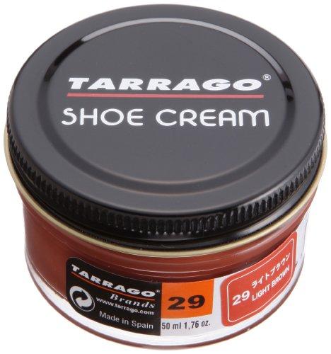 Tarrago Shoe Cream Crème Pour Chaussures Cuir Lisse Pommadier 50 millilitres Couleur Marron Clair