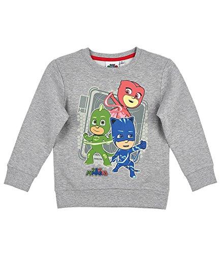 PJ Masks ? Pyjamahelden Jungen Sweatshirt - grau - 116 (Pj Baumwolle Herren)