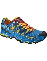 La Sportiva Ultra Raptor - Deportivos de Running para Hombre, Color Amarillo/Azul, Talla 41