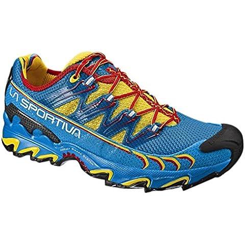 La Sportiva Ultra Raptor - Deportivos de running para hombre, color amarillo / azul, talla 43