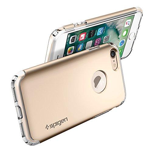 iPhone 7 Hülle, Spigen® [Hybrid Armor] Stoßabweisend [Champagne Gold] Luftpolster-Technologie an den Kanten / 2-teiliges Case Schutzhülle für iPhone 7 Case, iPhone 7 Cover - Champagne Gold (042CS20695 HA Champagne Gold