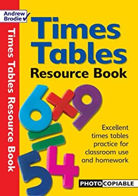 Times Tables Resource Book: Photocopiable Resource Book for Times Tables Practice (Resources for Results) from Andrew Brodie Publications
