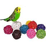 Bolas de ratán, juguete para pájaros, 10 unidades, color al azar.