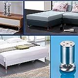 Kingus Edelstahl Schrank Füße Küche Sofa Betten Möbel Arbeitsplatte TV Schreibtisch Tischbeine für Familienmöbel, 1