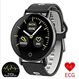 SanQing Smart Watch PPG ECG Monitor per la frequenza cardiaca della Pressione arteriosa Ip67 Orologio Digitale Impermeabile da Polso per attività Fitness Tracker iOS Android,Black