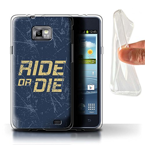 best service 40ecc 2e67d Stuff4 Gel TPU Phone Case/Cover for Samsung Galaxy S2/SII/Ride or Die  Design/Street Car Racing Collection