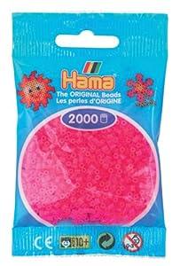 Desconocido Hama Perlen 501-32 - Perlas Fucsia Mini, 2000 Piezas Importado de Alemania