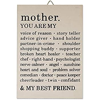 Mother's Day Wooden Sentimental Sign, with Beautiful Sweet