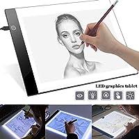 SDGDFXCHN A4 LED Copy Station Drawing Copy Tracing Caja de luz USB Rechargeable Art Stencil Boards Tattoo Tracing Plat