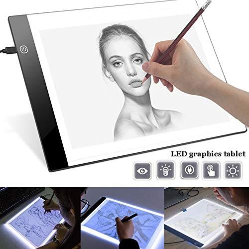 ulofpc A4 LED Light Box Tracer Ultra Slim-Zeichenbrett USB-betriebene LED-Copyboards für das Zeichnen von Künstlern Slim Light Box
