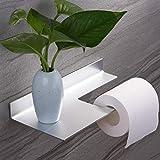 Porte Papier Toilette Auto-adhésif Porte Rouleau de Papier WC Mural pour Salle de...