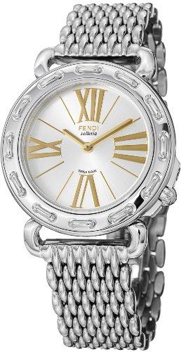 Fendi Selleria Ladies Silver Dial Stainless Steel Watch F81236HBR8153