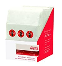 Tablecraft CC326 Coca-Cola Napkins (100 Pack), Half, Red