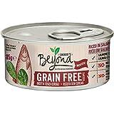 Purina Beyond Umido Gatto Grain Free Ricco in Salmone con Spinaci, 12 Lattine da 85 g Ciascuna, Confezione da 12 x 85 g