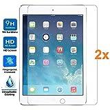 Electrónica Rey 2X Protector de Pantalla para iPad 9.7' (2018) / iPad Pro 9.7' / iPad 9.7' 2017 / iPad 5 Air/iPad Air 2, Cristal Vidrio Templado Premium, Táblet
