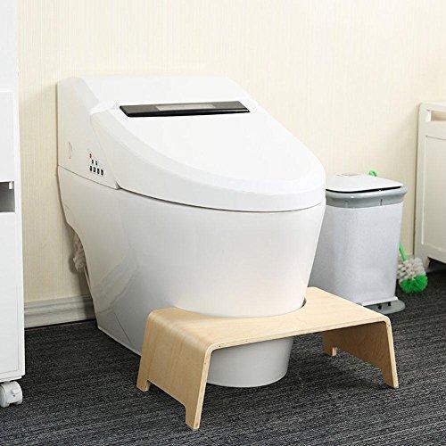 Todaytop Badezimmer Bank WC-Hocker Holz Toilettenhocker Anti-Rutsch Sitzbank Bad 48 x26 x15.5cm Badezimmermöbel,Gesunde Sitzhaltung auf der Toilette (Wc-bank)