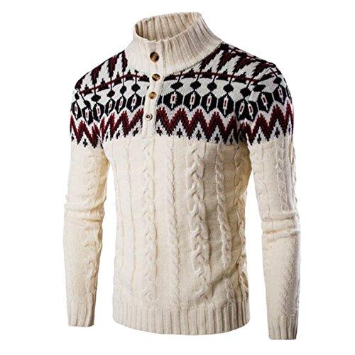 Cityelf Herren Sweatshirt Gr. M, beige (Pullover Roll Trim)