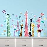 Wandaufkleber Große Bunte Giraffe Wandaufkleber Für Kinderzimmer Wohnkultur Wohnzimmer Schlafzimmer Küche Kinder Wandtattoo Wandbild