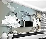 WH-PORP Tapeten mit Schalldämmung Effekt Tapete 3D Transparent Blume Traum nur schöne TV Einstellung Wand Blumen-400cmX280cm