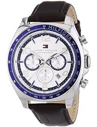 Tommy Hilfiger  1790937 - Reloj de cuarzo para hombre, con correa de cuero, color marrón