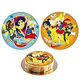 Disque Azyme Super Hero Girls DC Comics - Gâteau Enfant Anniversaire 20cm Aléatoire - 047