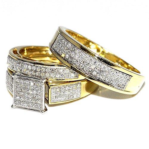 anelli-il-suo-midwestjewellerycom-da-donna-wedding-rings-set-trio-wo-06cttw-in-oro-giallo-10-ct-chia