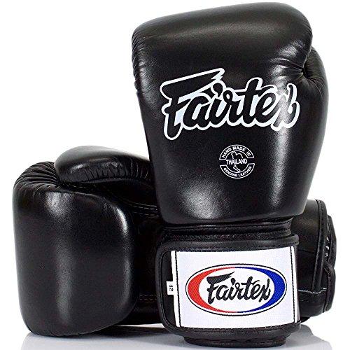 Fairtex Boxhandschuhe, BGV-1, schwarz, Boxing Gloves MMA Muay Thai Thaiboxen Size 12 Oz Fairtex Boxhandschuhe Schwarz