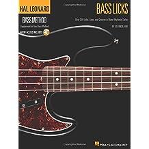 Hal Leonard Bass Method: Bass Licks (Book / Audio Online)