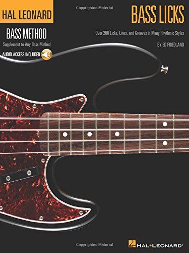 Hal Leonard Bass Method: Bass Licks (Book/Online Audio) (Book & CD)