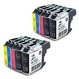 10 XL Kompatibel Patronen mit Chip für Brother LC223 LC225 LC221 XL Patronen für Brother DCP-J4120DW J562DW MFC-J5320DW J5625DW J4420DW J4620DW J4625DW J480DW J880DW