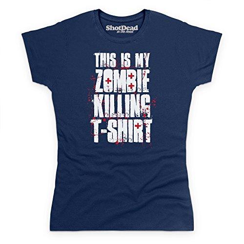 Zombie Killing T-Shirt, Damen Dunkelblau