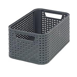 CURVER Style Rattan Kunststoff Aufbewahrungskorb, Größe S, 7L