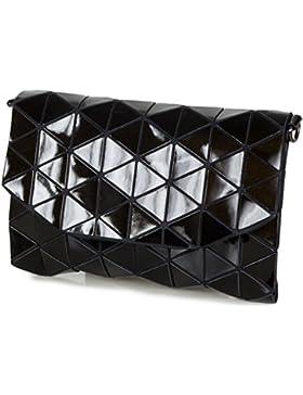 Taschenloft Clutch Damen Handtasche Metallic-Look mit Schulterriemen (26,5 x 17 x 3 cm)