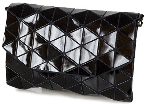 018baadeb9758 Taschenloft Clutch Damen Handtasche Metallic-Look mit Schulterriemen (26