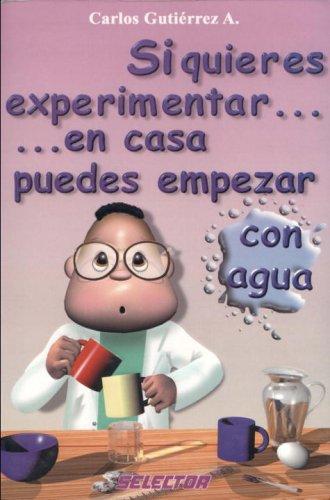 Si quieres experimentar...en casa puedes empezar con agua / If you want to experience at home ... you can start with water por Carlos A. Gutierrez