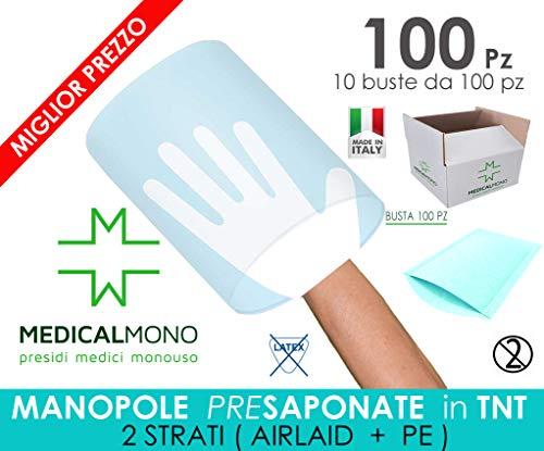 MEDICALMONO SRL Manopole SAPONATE Impermeabili monouso cellulosa e PE 16x22