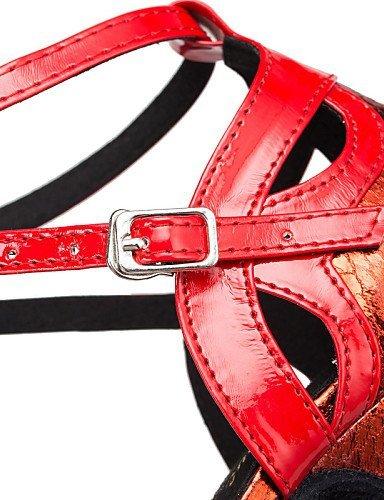 ShangYi Chaussures de danse ( Bleu / Rouge / Or ) - Personnalisables - Talon Personnalisé - Cuir / Similicuir - Latine / Salsa / Samba Blue