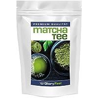 Matcha Tee Pulver 120g - Original Matcha Grüntee Pulver - Der VERGLEICHSSIEGER 2018* - Polyphenole Natürliche Antioxidantien und Koffein - Ideal für Matcha-Smoothies, zum Backen oder Kochen - Veganes Superfood von GloryFeel